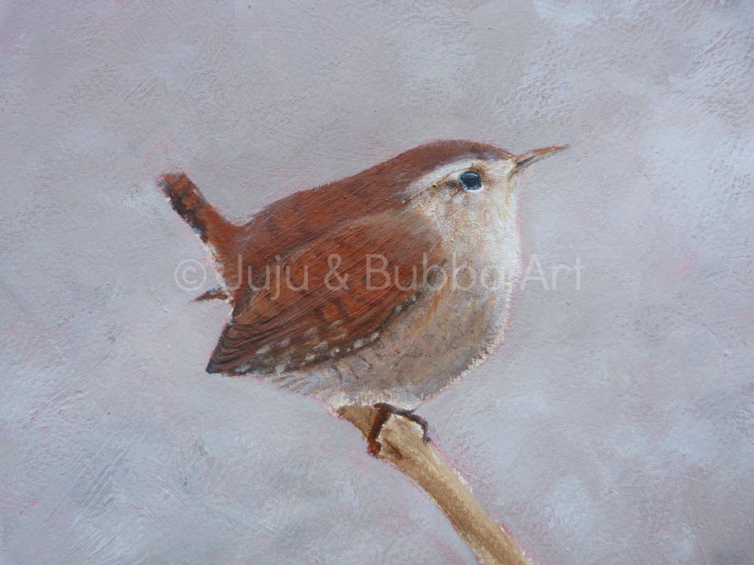 limited edition print of a wren  juju & Bubba