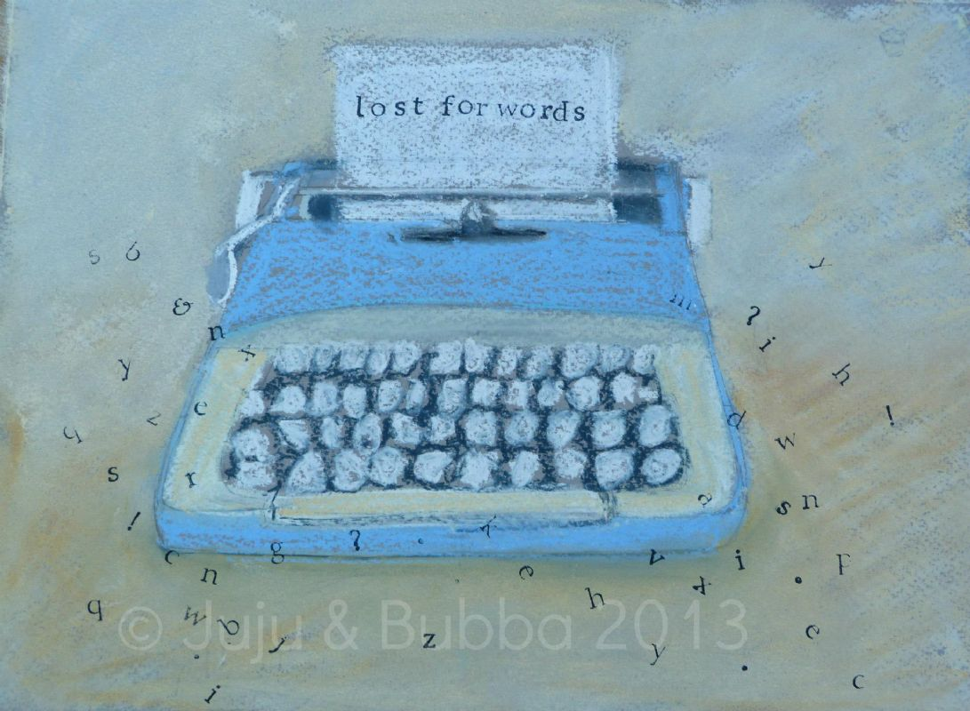 'Lost for Words' A Fine Art Giclée Print taken from an original pastel paintings by Jules Watson @ J